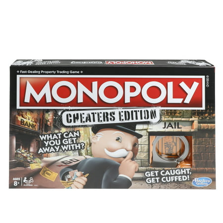 Monopoly Game: Cheaters Edition Board Game Ages 8 and Up - Games For 8 Year Old