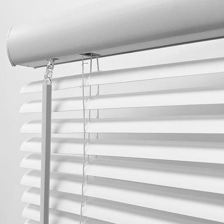 "Biltek Cordless Venetian Window Blinds Horizontal 1"" Slats Privacy Shade Anti-UV White - 48"" W x 64"" H - image 3 de 7"
