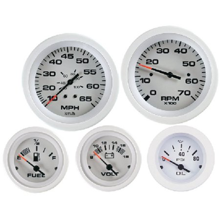 Sierra 69723P Arctic Series White Outboard 2 Set with Tachometer and Voltmeter