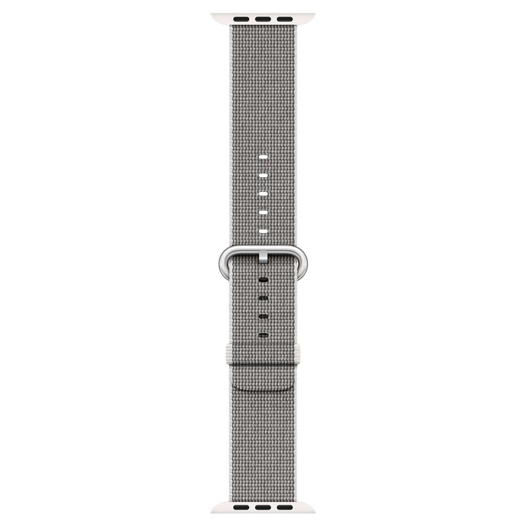 Apple Watch 38mm Woven Nylon Band, Pearl