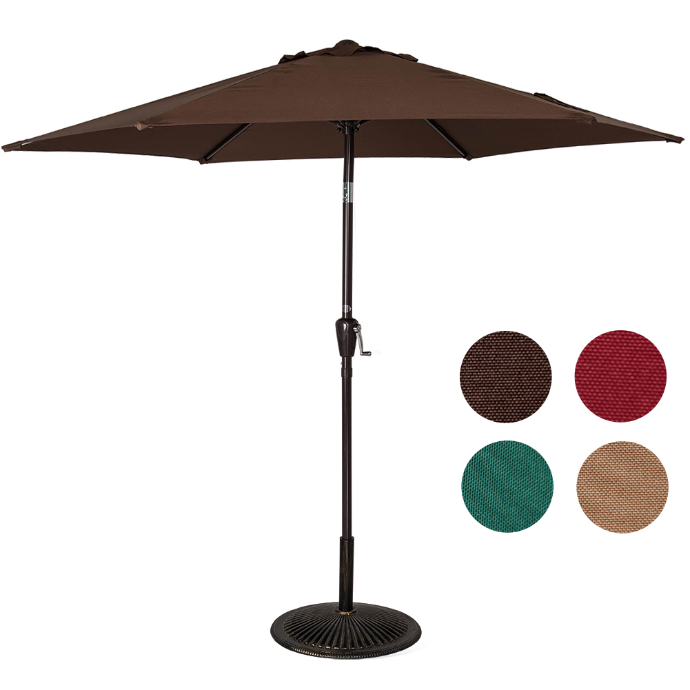 Sundale Outdoor 8.2 Feet Outdoor Aluminum Patio Umbrella with Push-button and Crank, 6... by Sundale Outdoor