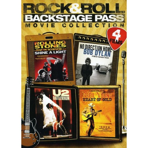 Rock & Roll Backstage Pass 4-Movie Collection - Neil Young: Heart of Gold / No Direction Home: Bob Dylan / Rolling Stones: Shine A Light / U2: Rattle And Hum (Widescreen)