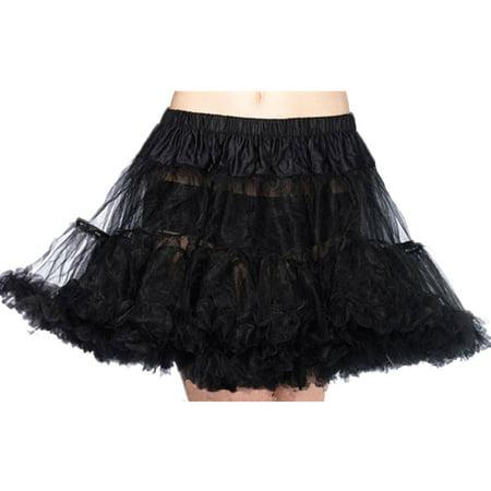 Leg Avenue Women's Petticoat Dress, Black, One Size - Cheap Petticoats Halloween