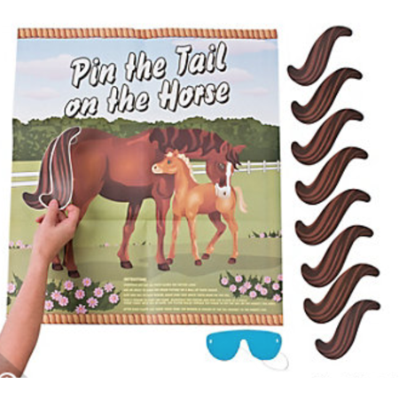 Horse Themed Parties (Pin the Tail on the Horse, Party Game for 12, Horse Themed Events,)