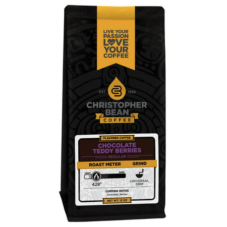 Berry Coffee - Chocolate Teddy Berries Flavored Ground Coffee, 12 Ounce Bag