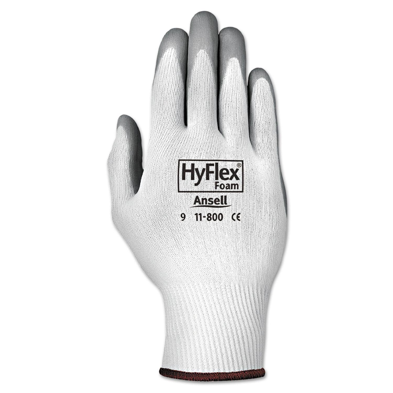 AnsellPro - HyFlex Foam Gloves, White/Gray, Size 9