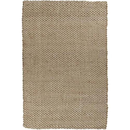 10' x 14' Alluring Burlap Khaki and Ivory Hand Woven Jute Area Throw Rug