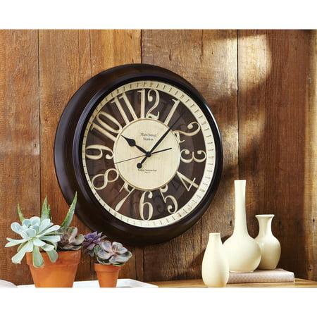 Better Homes And Gardens Silhouette Wall Clock Walmart Com
