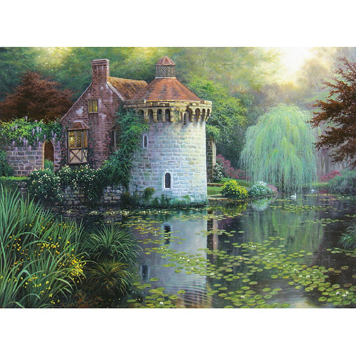 "M C G Textiles Scotney Castle Garden Counted Cross Stitch Kit, 16"" x 12"", 16 Count"