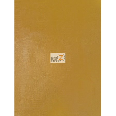 Alligator Embossed Vinyl Faux Leather Pleather Fabric / Longhorn Orange / Sold By The Yard ()