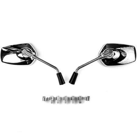 Krator Universal Chrome Motorcycle Mirrors for Suzuki