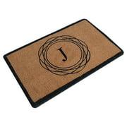 Darby Home Co Albertina Abstract Circle Monogrammed Doormat