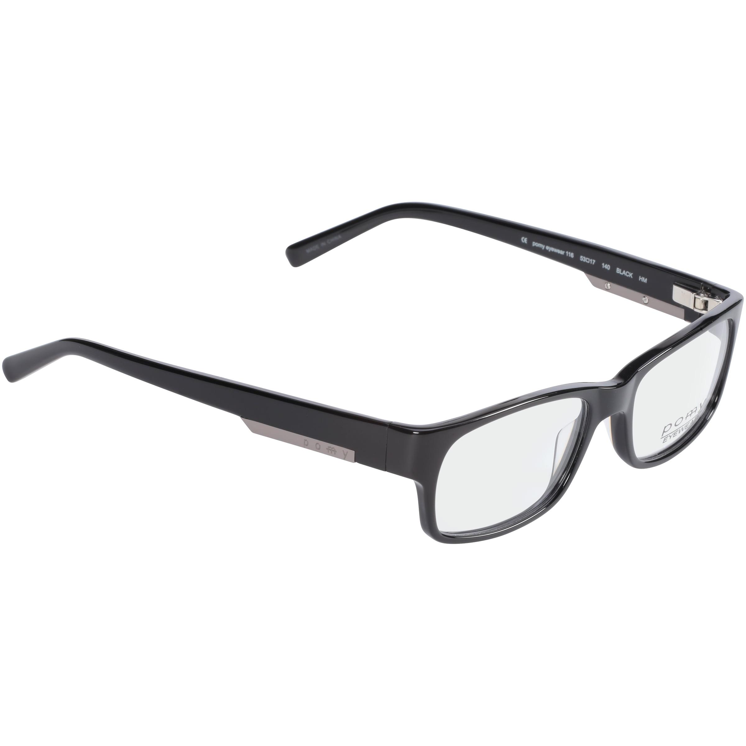 pomy eyewear rxable eyeglass frames 116 black walmartcom