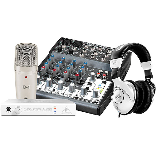 Behringer Podcastudio Firewire Podcast Recording Package with Firewire Interface, Mixer, Microphone, Headphones and More