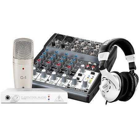 behringer podcastudio firewire podcast recording package with firewire interface mixer. Black Bedroom Furniture Sets. Home Design Ideas