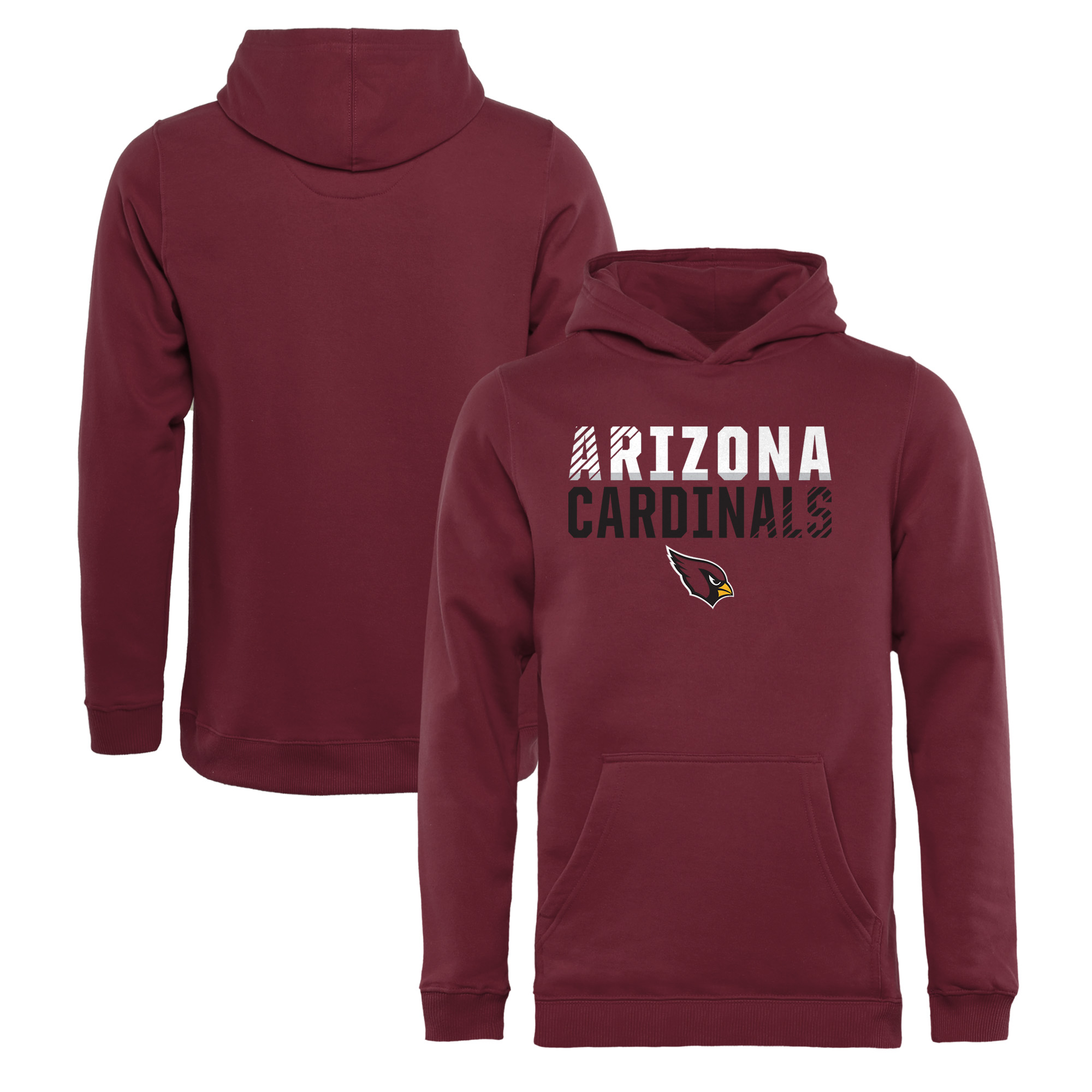 Arizona Cardinals NFL Pro Line by Fanatics Branded Youth Iconic Collection Fade Out Pullover Hoodie - Cardinal