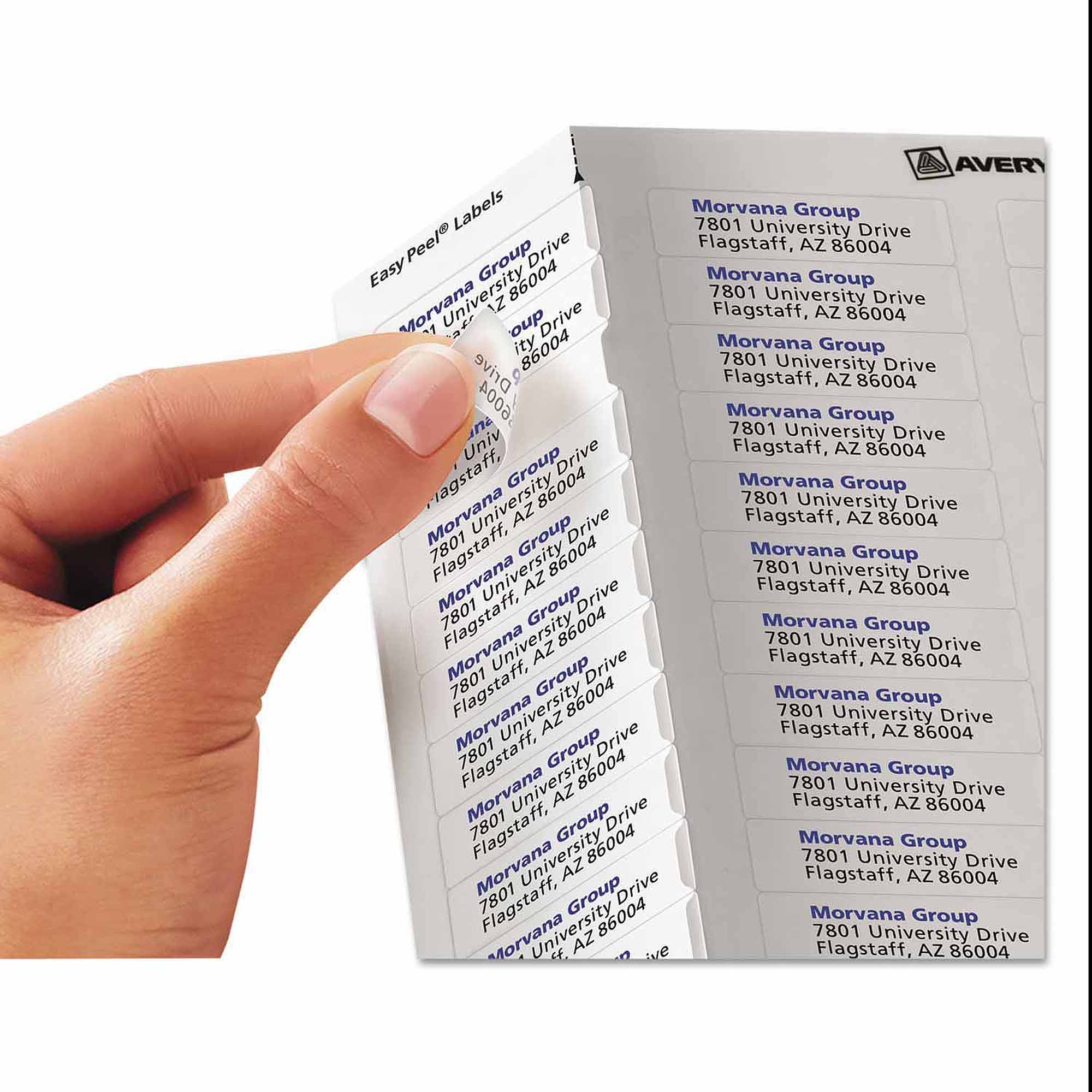 Avery Easy Peel Inkjet Mailing Labels, 1/2 x 1-3/4, Clear, 2000/Pack