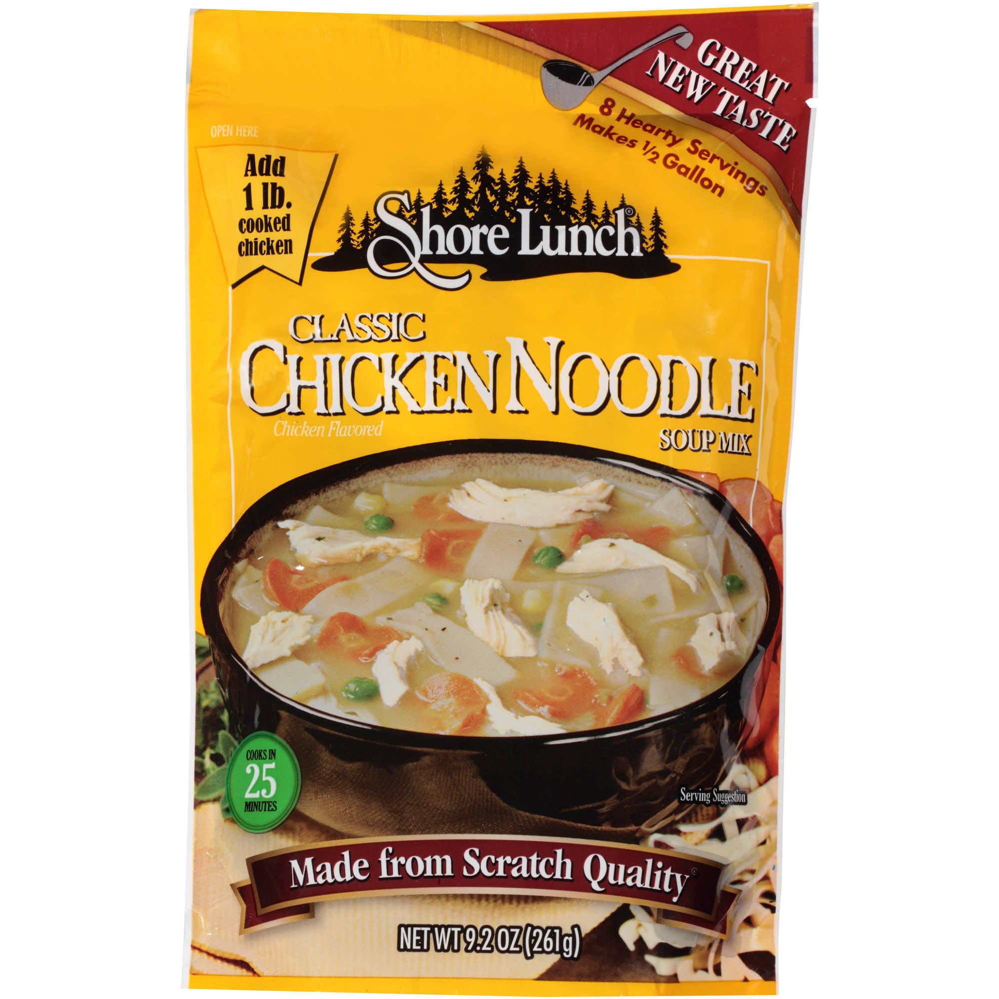 Shore Lunch Classic Chicken Noodle Soup Mix, 9.2 oz