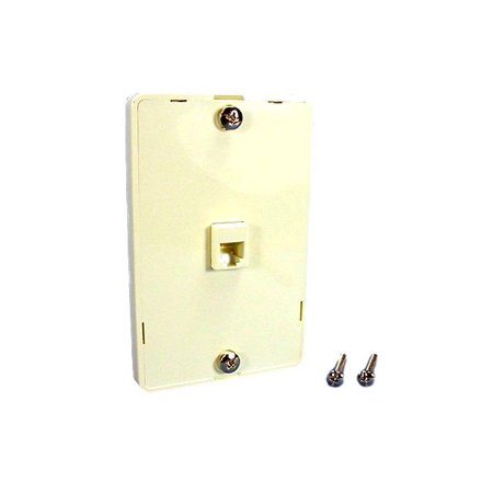 Almond Wall Phone Mounting Plate Telephone Jack 40914-A