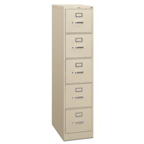 315 Series 5 Drawer Vertical Filing Cabinet - Letter - Gray