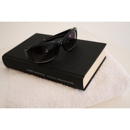 Canvas Print Leisure Sunglasses Book Read Weekend Relax Stretched Canvas 10 x 14