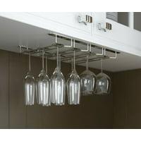 Wallniture Stemware Glass Rack Wine Glasses Under Cabinet Chrome Finish