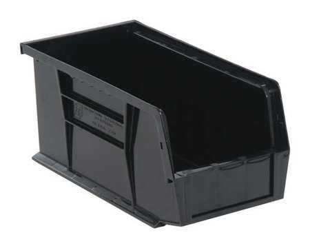 quantum storage systems 30 lb capacity hang and stack bin black qus230br