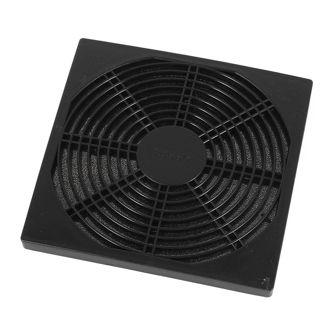 Unique Bargains Black Plastic Dustproof Filter 150mm PC Computer Case Fan Dust Guard Mesh Grill