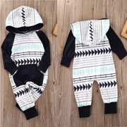 Baby Boys Girls Infant Hooded Xmas Gift Romper Jumpsuit Bodysuit Clothes Outfits