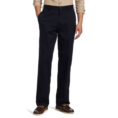 Dark Navy Khaki (IZOD NEW Blue Navy Mens Size 30x32 Flat Front Classic-Fit Khaki Pants )