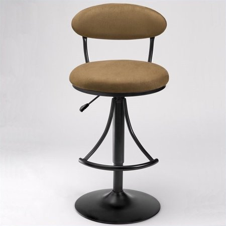 Hilale Venus 24 30 Adjule Swivel Bar Stool In Black And Brown