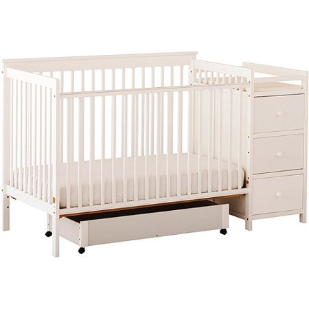 Storkcraft Madison 4 In 1 Crib And Changing Table White Walmartcom