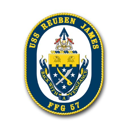 3.8 Inch Navy USS Reuben James (Shaded) FFG-57 Vinyl Transfer Decal