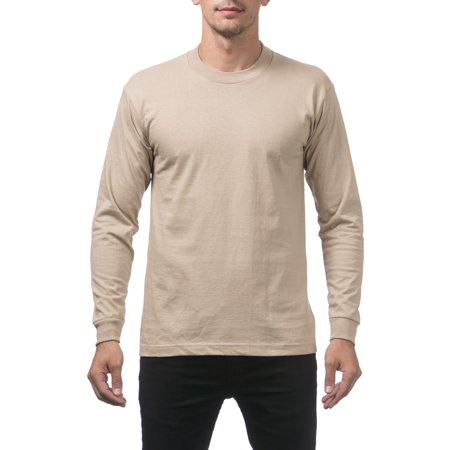 109e1d18 Pro Club - Pro Club Men's Heavyweight Cotton Long Sleeve Crew Neck T-Shirt,  7X-Large, Khaki - Walmart.com