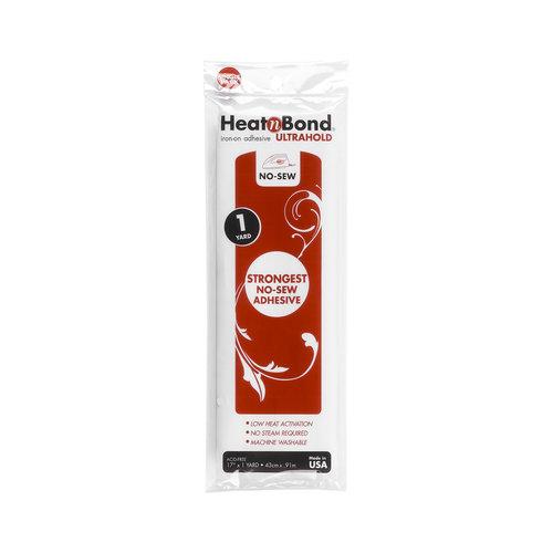 "HeatnBond Ultrahold No-Sew Iron-On Adhesive, 17"" x 1 yd"