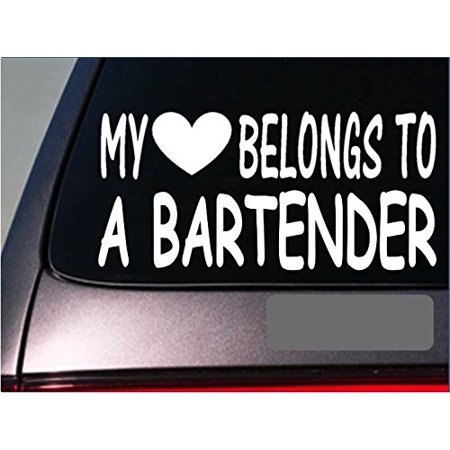 Halloween Mixed Drinks And Shots (Bartender My heart belongs Sticker *G473* 8