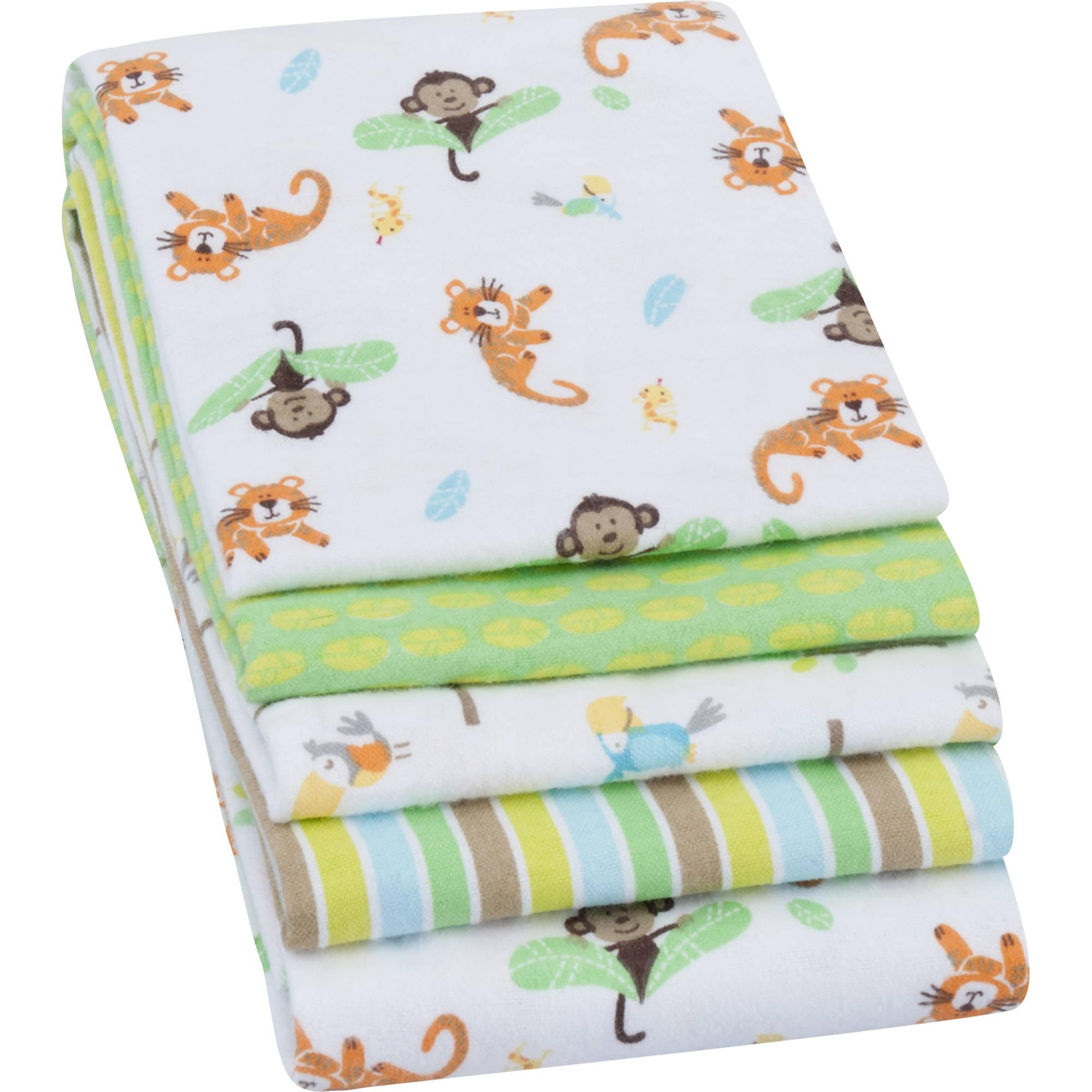 Garanimals Receiving Blankets, Green, 4 Pack