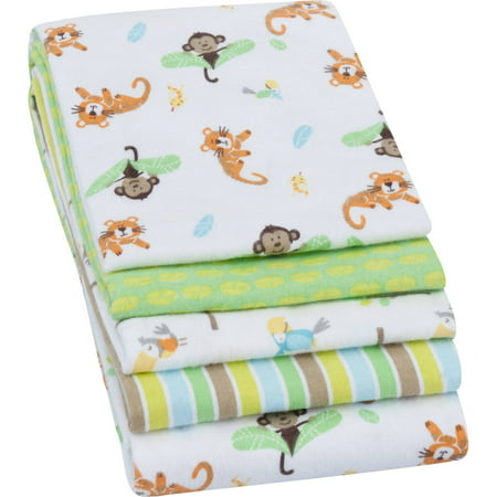 Garanimals Receiving Blankets, Green, 4 Pack