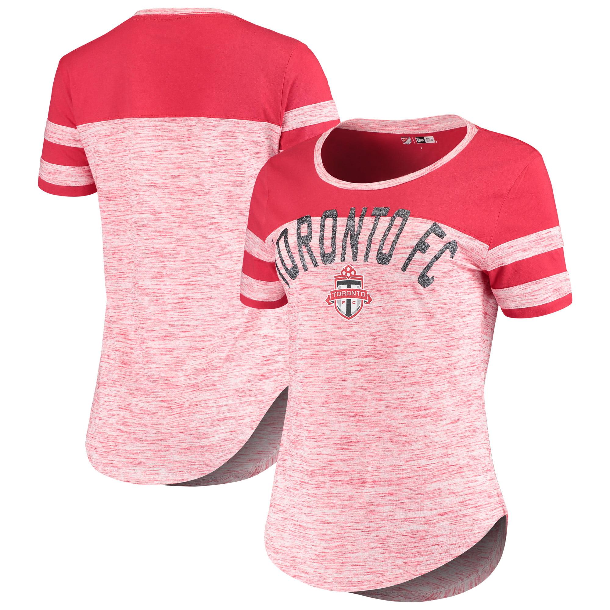 Toronto FC 5th & Ocean by New Era Women's Space Dye Scoop T-Shirt - Red