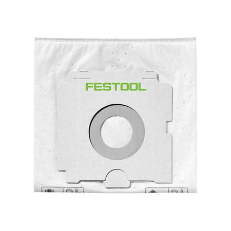 Festool 496187 Selfclean Fleece Filter Bag For Dust Extractor CT 26, 5 Pack (Dust Extractor Filter Bag)