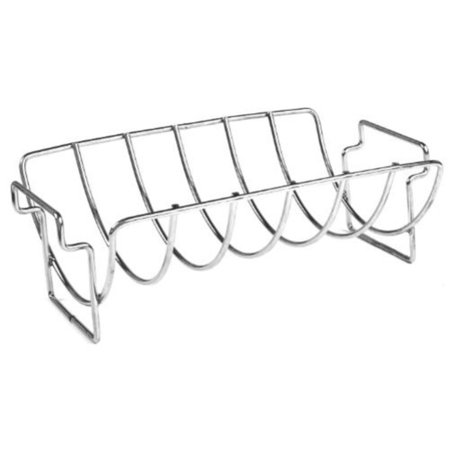 Charcoal Companion CC3096 14-Inch Stainless Steel Reversible Roasting and Rib Rack Multi-Colored