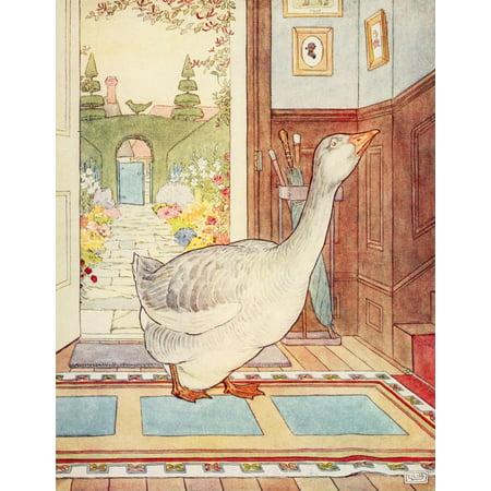 Nursery Rhymes 1916 Goosey Goosey Gander Poster Print By  Leonard Leslie Brooke