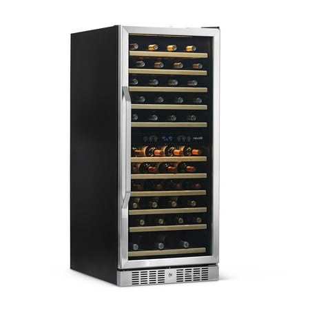 NewAir Wine Cooler & Refrigerator Built In Dual Zone 116 Bottle Capacity Cooler, AWR-1160DB Stainless (Best Built In Wine Refrigerator)