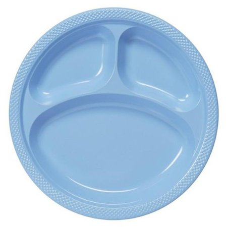 Amscan 43033.108 Pastel Blue Plastic Divided Dinner Plates 10 in ...