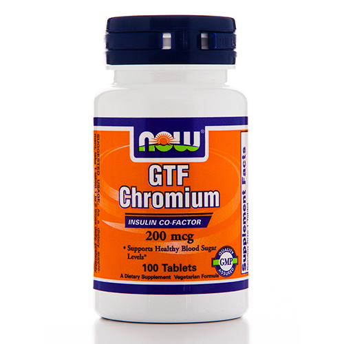 GTF Chromium 200 mcg Yeast Free - 100 Tablets by NOW