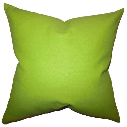 The Pillow Collection Kalindi Solid Throw Pillow Cover