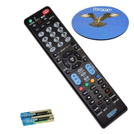 HQRP Remote Control for LG 47LH30 47LH40 47LH50 47LH55 47LH85 47LH90 47LK520 47LW5600 47LW980T 47LX6500 LCD LED HD TV Smart 1080p 3D Ultra 4K + HQRP Coaster