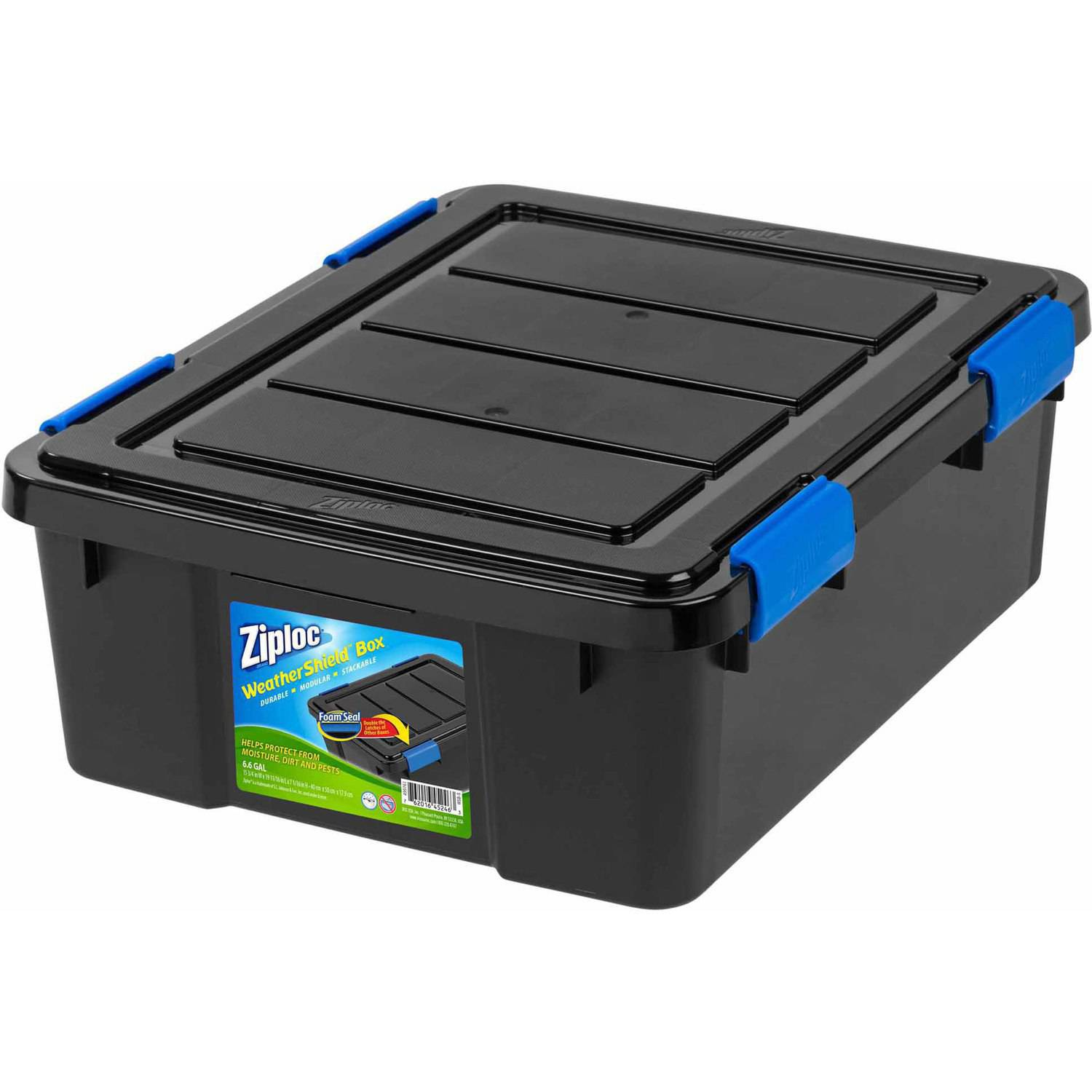sc 1 st  Walmart & Ziploc 26.5 Qt. Small WeatherShield Storage Box Black - Walmart.com