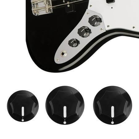 Jazz Bass Knobs Black Metric Size for Fender Jazz Bass (Best Jazz Bass Bridge)