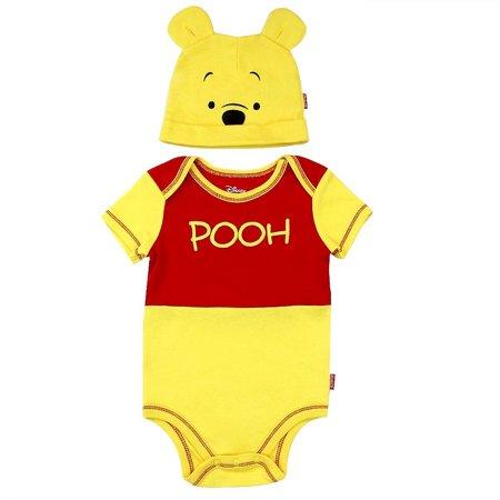 Disney - Winnie the Pooh Baby Boys  Creeper with Hat Set - Walmart.com a54cc45d078